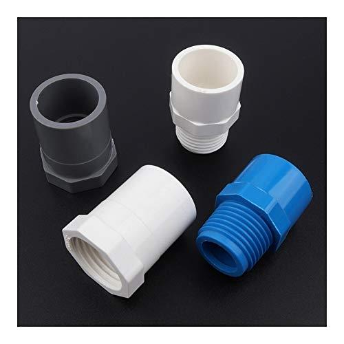Conexión de reparación de jardín 6pcs / lot 20~25mm 1/2' 3/4' hembra/macho de rosca de PVC sistema de riego del jardín del agua Conectores Conectores de tubos grifo de la cocina articulaciones