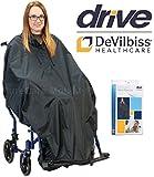 Drive Poncho imperméable pour fauteuil roulant avec ourlet élastique
