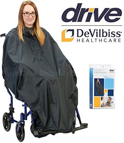 Drive Elastische zoom waterdicht rolstoel Poncho regen Cape