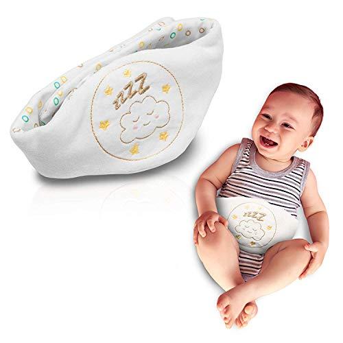 Babyjem Kirschkernkissen Weiß - Wärmekissen für Babys - Flexibler als Wärmflasche ideal geeignet bei Bauchschmerzen und Blähungen - Körnerkissen/Dinkelkissen aus hochwertiger Baumwolle