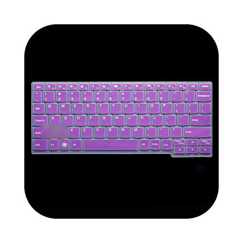 Funda de teclado de silicona para Lenovo Miix4 Miix 700 S206 S210T K20-80 Yoga3 11S K3011W 11 12 pulgadas, color morado