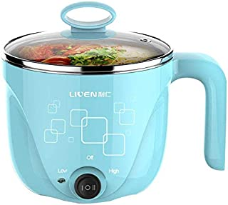 1L Liven Electric Hot Pot with 304 Stainless Steel healthy inner Pot, Cook noodles and boil water eggs easy ,Small Electric Cooker 600W 120V HG-X1000BL
