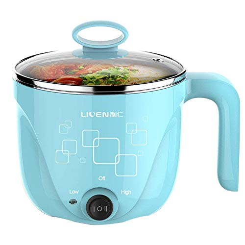 1L LIVEN Electric Hot Pot with 304 Stainless Steel Healthy Inner Pot, Cook noodles and boil eggs...