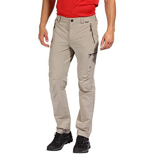 Regatta Highton Herren Wanderhose mit Mehreren Taschen, wasserabweisend XL pargament