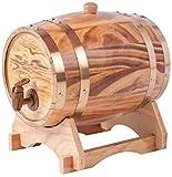 Barril de madera de roble de 10 litros para almacenamiento y envejecimiento de vino y bebidas, con soporte, de la marca Dream Wood