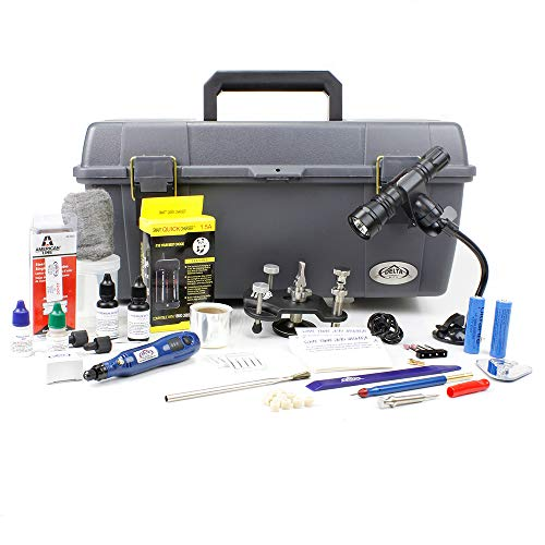 Delta Kits EZ-250S Mobile Windshield Repair System, Best Windshield Repair kit, Comes with B250 Bridge and Stainless Steel Screw Type Injector,