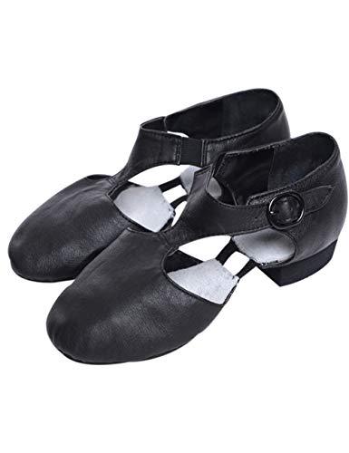 Jazz Latein Tanzschuhe für Damen - Bewegen Tanzschuh Ballettgymnastik Übungs Heels Salsa Latino International (Schwarz,40 EU)