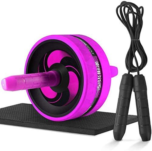 LMCLJJ AB Roller Aparato de Abdominales Rueda de Ejercicio y Fitness con Asas de Agarre para Entrenamiento Central y Entrenamiento Abdominal Silencio De Adelgazar en el hogar (Color : Purple)