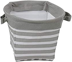 Household large-capacity storage bag Hanging bag Gray Stripes Clothes Storage Basket Laundry Basket Cotton Folding Frame D...