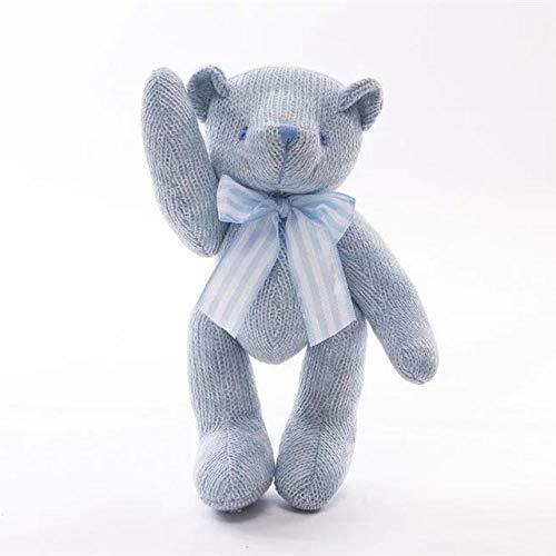 Peluche Gebreide Teddybeer Doll Bear Troostende Knuffel-blue_28cm