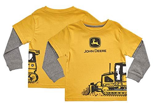 John Deere JFT501YF18A Camiseta, Construcción Amarillo, 18 Meses para Bebés