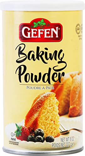 Gefen Baking Powder, 8oz Resealable Container, Gluten Free, Aluminum Free, Cornstarch Free