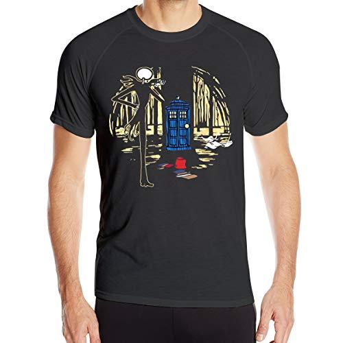Doctorwho-Pesadilla Antes de Navidad Camiseta de Secado rápido para Hombres Camiseta Militar Camiseta de Senderismo para Acampar al Aire Libre para Hombres de Manga Corta