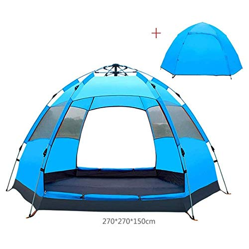 Tent for Camping Automatic Waterproof Family Camping Tent for 4-6 Persons,Big Size Oxford Cloth Double Layer Family Camping Tent with Instant Setup.