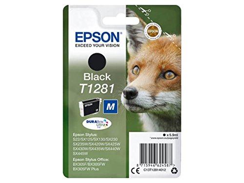 Epson Original–EPSON Stylus SX 235W (T1281/c13t12814012)–Cartucho de tinta Negro–170páginas–5,9ml