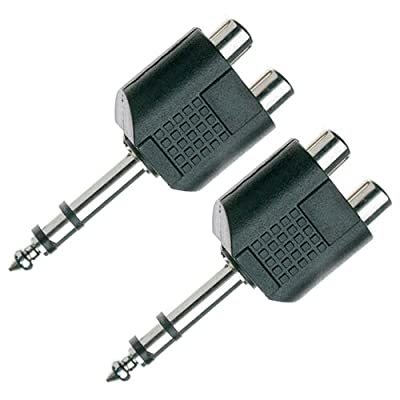 Stagg 16081 2 x RCA Female/1x Stereo Jack Y-adaptor (Pack of 2)