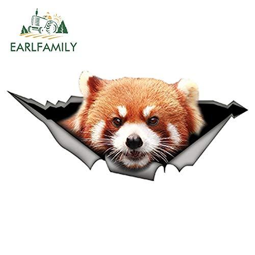 PJYGNK Sticker de Carro 15 cm x 6 cm Panda Rojo Etiqueta engomada del Coche Divertido Panda calcomanía Creativo Modificado Impermeable 3D Estilo de Coche Pegatinas de Animales