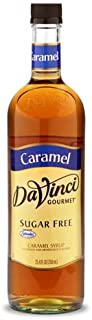 DaVinci Gourmet Coffee Syrup, Sugar-Free Caramel, 25.4 Ounce Bottle (Pack of 4)