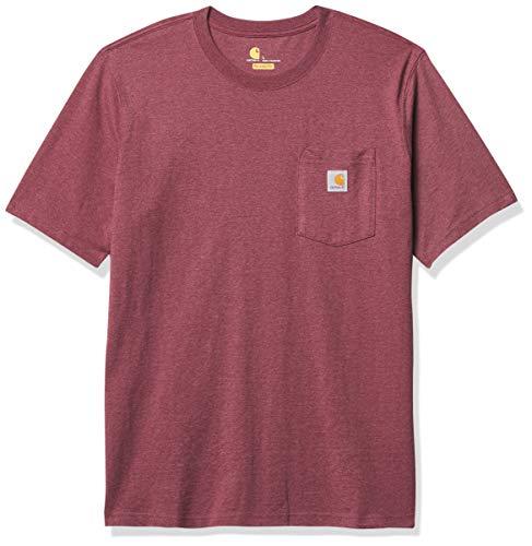 Carhartt .103296.R19.S006 - Camiseta de Manga Corta para Hombre, diseño de Mineral de Hierro, Talla L