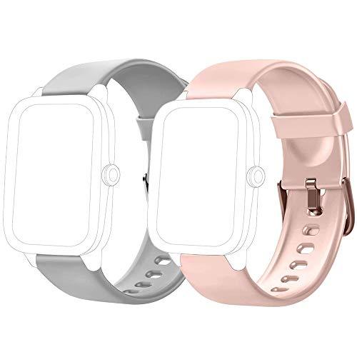 Flenco Smartwatch Cinturino di Ricambio per Smart Watch ID205 / ID205L / ID205S / ID205U / ID205G / SW025 / SW023 / SW021 / SW020 / TE021 / TE020 / YM023 / YM021 /YM020 Cinturini di Ricambio