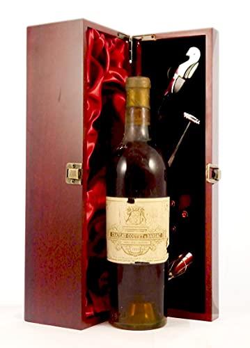 Chateau Coutet 1953 1er Cru Barsac en una caja de regalo forrada de seda con cuatro accesorios de vino, 1 x 750ml