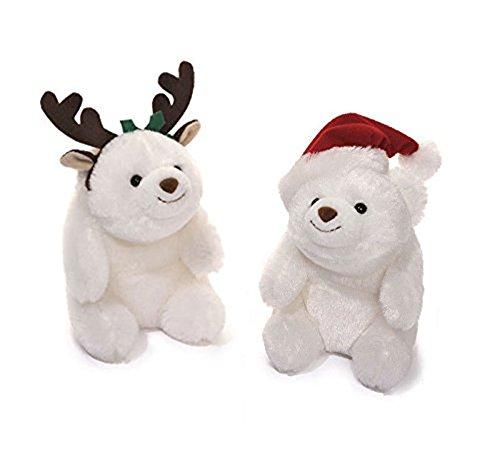 Gund Holiday Snuffles Set Santa and Reindeer Teddy Bears 5'