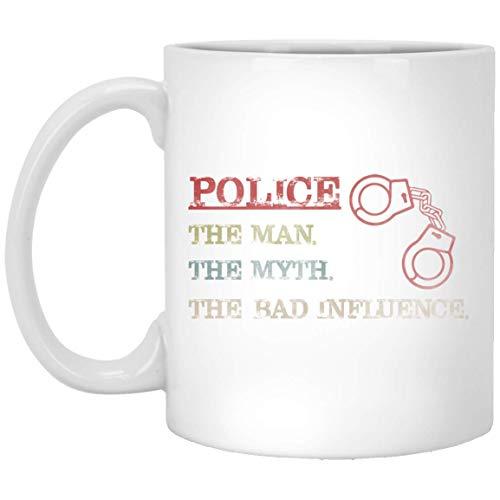 Police Man Myth Bad Influence Vintage Mug Tea Mug Funny Vegan Cofee Mug Gifts 11 oz Cup