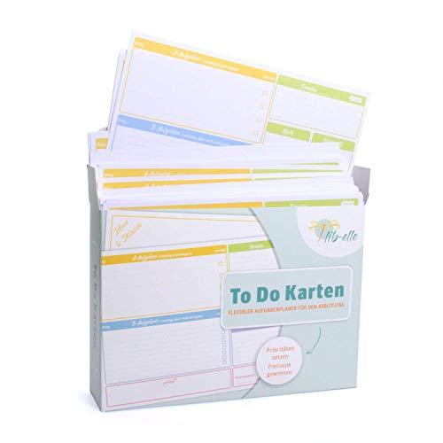 To-Do-Karten: Der ganz besondere Business Tagesplaner | 200 feste Karten aus Papier DIN A5 | Business und Büro Organizer | To Do Liste