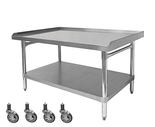 "ACE All Galvanized Equipment Stand with Set of Four 4"" Stem Casters. (ETL Certified) Size:30"" W x 36-1/2""L x 27"" H, Model#ES-E3036+KS4113"