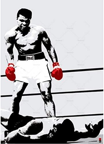 Póster Arte de Pared 30x50cm sin Marco Muhammad Ali Boxing Star Sports Canvas Poster Pintura Abstracta de la Lona Impresiones del Arte Decoración para el hogar Imagen de la Pared