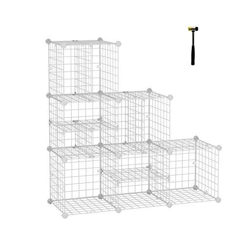 可以自由组装,C&AHOME 金属立方体储物架