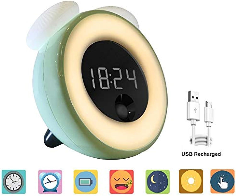 Asonter Wecklicht Wecker Nachtlicht USB wiederaufladbar Digital Touch Sensor Dimmbar Nachttischlampe LED Nachtlicht