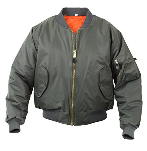 Rothco MA-1 Flight Jacket, M, Sage Green