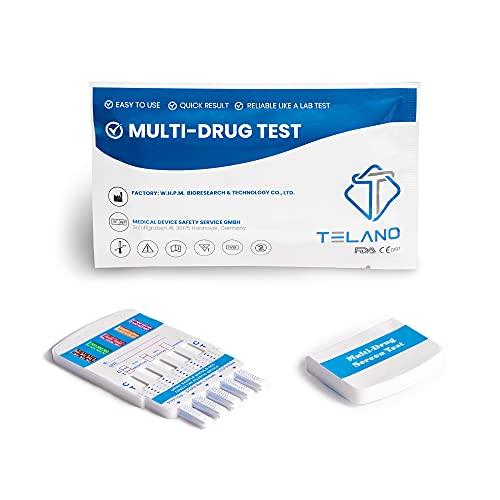 2 x Telano Multi Drogenschnelltest für 10 Drogenarten   Kokain - Cannabis (THC) - Amphetamin - Methamphetamin -MDMA - Opiate - Benzodiazepine - Ketamine - Methadon - Barbiturate   Drogentest für Urin