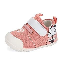 MASOCIO Babyschuhe Mädchen Lauflernschuhe Baby Schuhe Sneaker Anti-Rutsch Rosa 12-18 Monate Größe 19,5