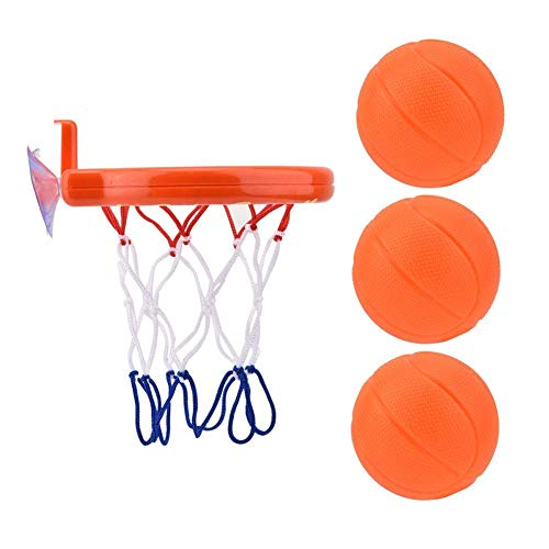 Dirgee Basketball Basketball, Bath Basketball Rack Toy Hoop & Balls Shooting Game para niños Baby Snowdler