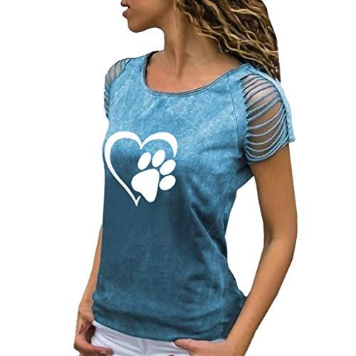 Darringls Maglia Magliette Donna Manica Corte Elegante T-Shirt Estive Maglietta Tumblr Camicetta Donna Casual Tops Ragazza Stampata Bluse Sportivi Cotone Stretch Maglione