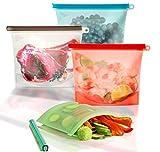 Benrise bolsas de almacenamiento de alimentos, reutilizables, aptas para...