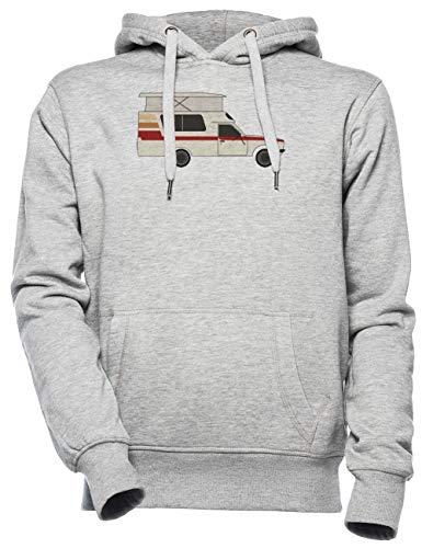 Retro Chinook Kampeerder - Kampeerder Vrachtauto Unisex Mannen Dames Capuchon Grijs Unisex Men's Women's Hoodie Grey