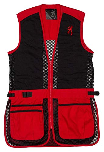 New Browning Junior Trapper Creek Mesh Shooting Vest-Red/Black