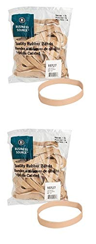 Business Source Size 107 Rubber Bands - 1 lb. Bag (15727) (Pack of 2)