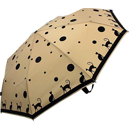 Knirps Paraplu Fiber T2 Duomatic - Cat Ecru