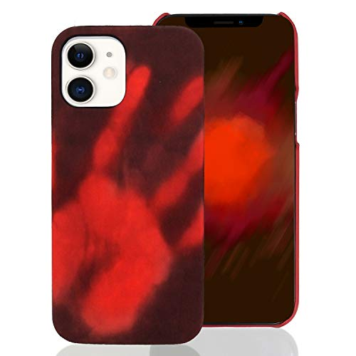 Omio Compatible with iPhone 12 Thermal Sensor Case Heat Sensor Induction Fluorescent Temperature Sensing Creative Cover Ultra Thin Anti-Scratch Stylish Color Changing Protective Case