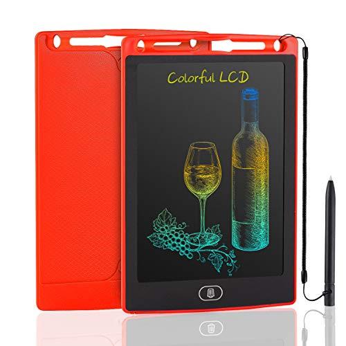 JOEAIS Tableta Escritura LCD Color 8,5 Pulgadas, Anti-caída Tablet Dibujo, Tablet para Dibujar para Niños, Regalo para Niños Niñas (Rojo)
