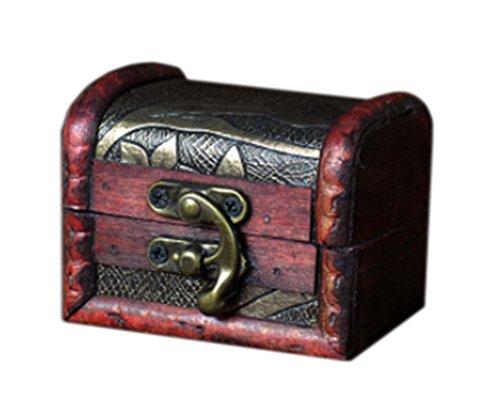 millésime et belle caisson à bijoux en bois de cas cosmétique