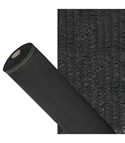 Malla Sombreo 90%, Rollo 1,5 x 50 metros, Reduce Radiación, Protección Jardín y Terraza, Regula Temperatura, Color Negro