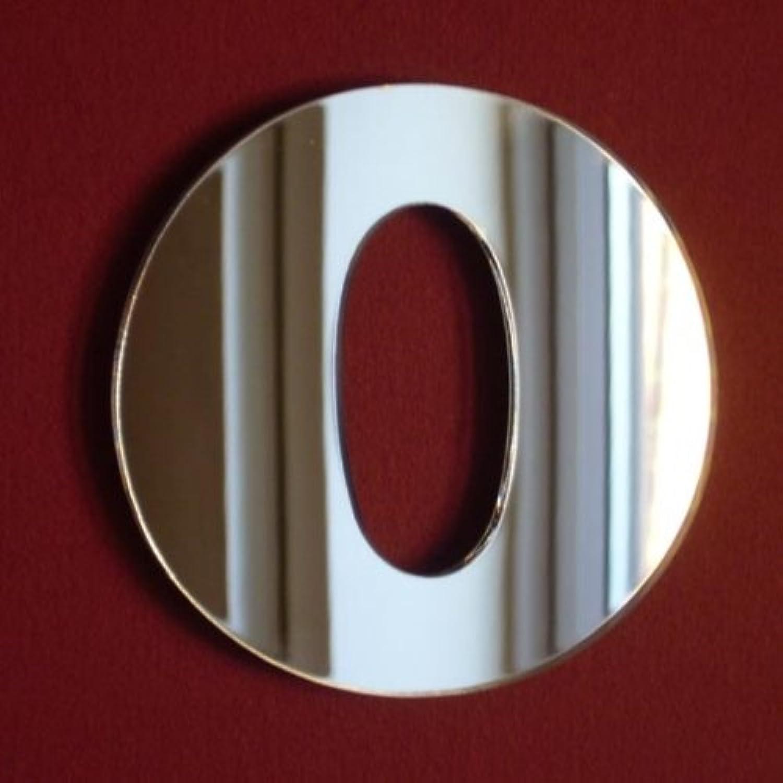 Number 0 Mirror - 45cm