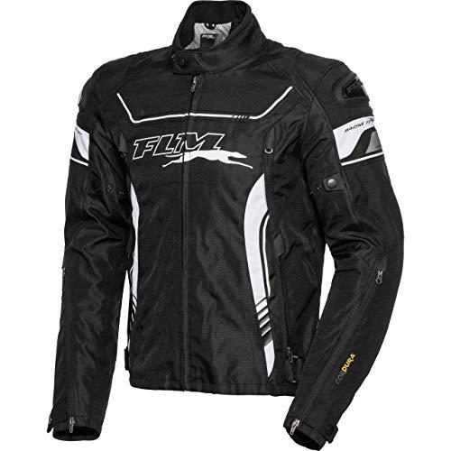 FLM Motorradjacke mit Protektoren Motorrad Jacke Sport Textiljacke 2.1 schwarz XXL, Herren, Sportler, Ganzjährig