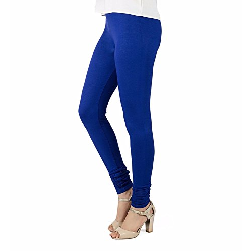 TRASA Ultra Soft Cotton Churidar Leggings for Womens and Girls - Royal Blue, Size :- 6 X-Large - Brand Outlet