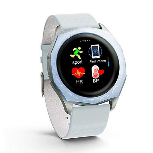 Relojes de pulsera Pulsera Inteligente de Toque Completo, Pulsera de Seguimiento de Actividad Física con Correa de Color Cambiante, Relojes de Pulsera Impermeables para Hombres Y Mujeres para IOS Andr